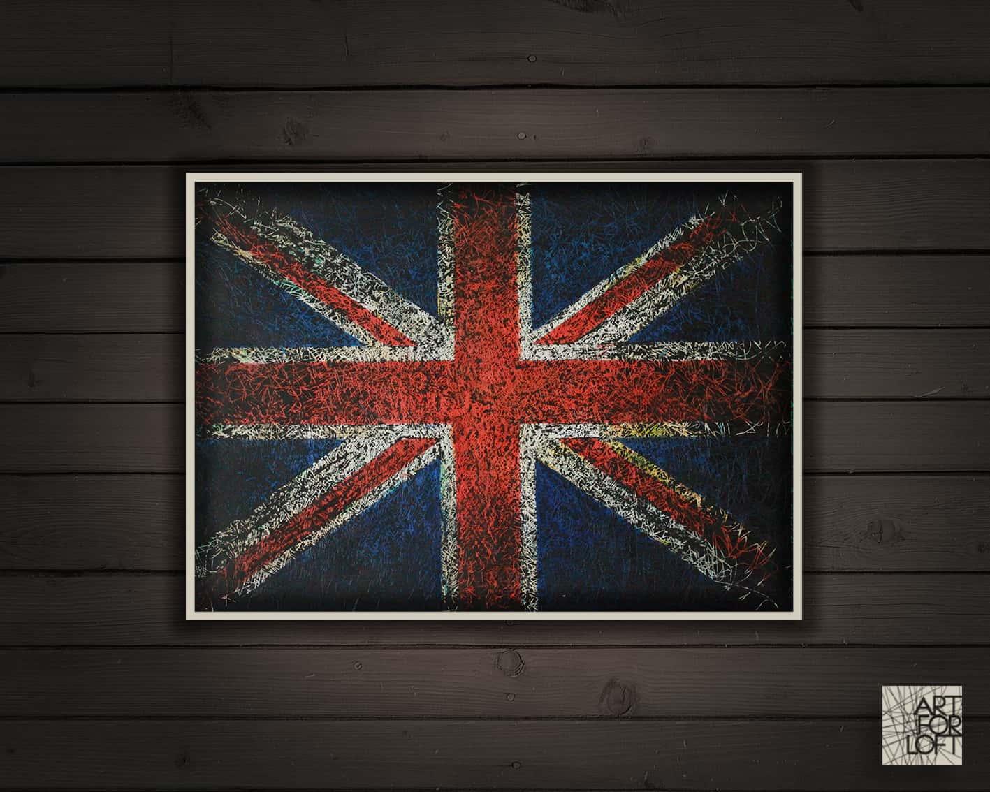 great britain flag wall art u2013 art for loft