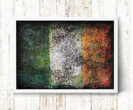 Hand painted Flag of Ireland