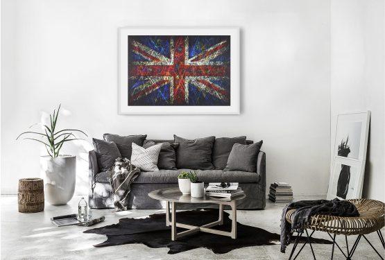Hand painted Flag of United Kingdom