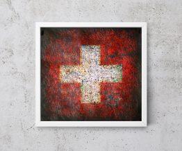 Hand painted Flag of Switzerland