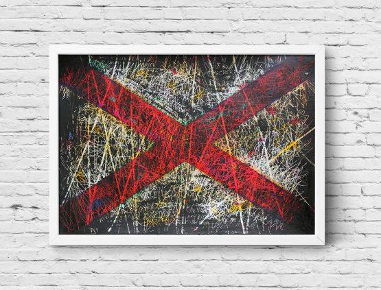 Hand painted Flag of Alabama