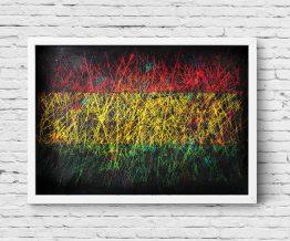 Hand painted Flag of Reggae