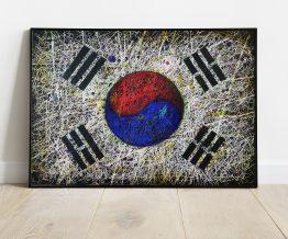 Hand painted Flag of South Korea
