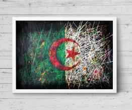 Hand painted Flag of Algeria