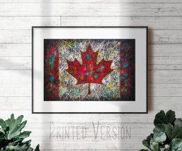 Printed Flag of Canada