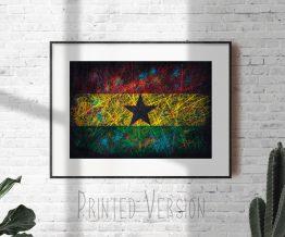 Print of Flag of Ghana