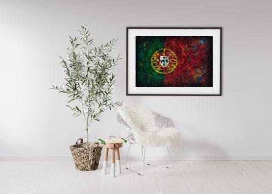 Flag of Portugal in Scandinavian Interior