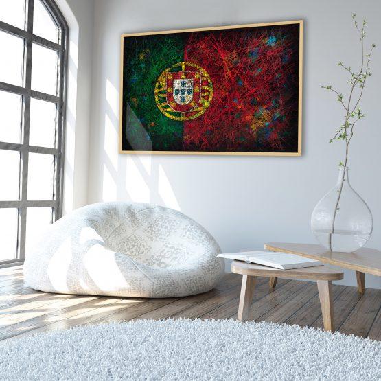 Scandinavian Interior Flag of Portugal Flag