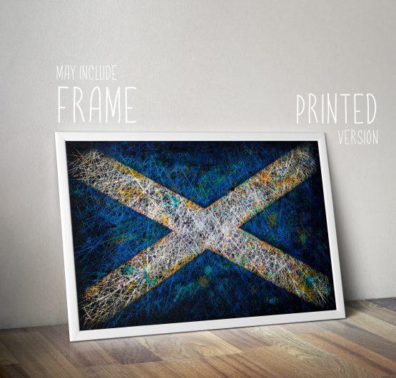 Printed Flag of Scotland