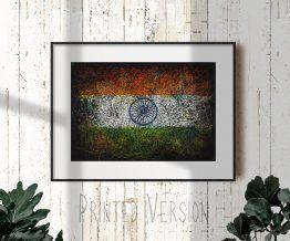 Printed Flag of India