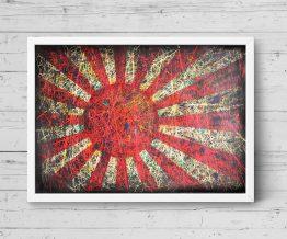 Printed Flag of Rising Sun