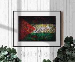 Printed Flag of Palestine