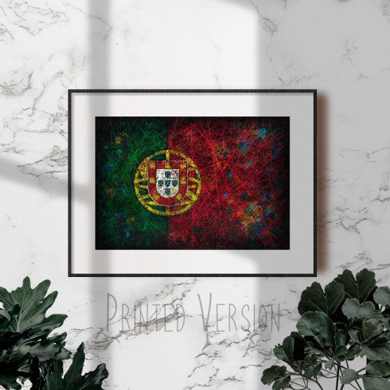 Printed Flag of Portugal